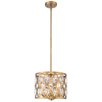 Z-Lite 6010-12HB Dealey 3 Light 12 inch Heirloom Brass Chandelier Ceiling Light