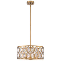 Z-Lite 6010-20HB Dealey 5 Light 20 inch Heirloom Brass Chandelier Ceiling Light