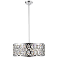 Z-Lite 6010-24CH Dealey 6 Light 23 inch Chrome Chandelier Ceiling Light