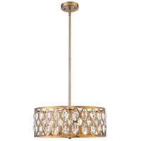 Z-Lite 6010-24HB Dealey 6 Light 23 inch Heirloom Brass Chandelier Ceiling Light