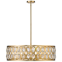 Z-Lite 6010-30HB Dealey 8 Light 30 inch Heirloom Brass Chandelier Ceiling Light