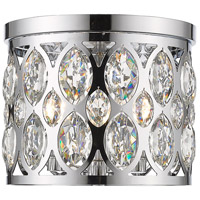 Z-Lite 6010F12CH Dealey 3 Light 12 inch Chrome Flush Mount Ceiling Light