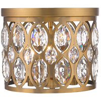 Z-Lite 6010F12HB Dealey 3 Light 12 inch Heirloom Brass Flush Mount Ceiling Light
