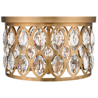 Z-Lite 6010F15HB Dealey 4 Light 16 inch Heirloom Brass Flush Mount Ceiling Light