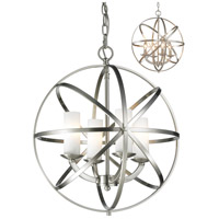 Aranya 4 Light 18 inch Brushed Nickel Pendant Ceiling Light