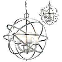 Z-Lite 6017-4S-CH Aranya 4 Light 18 inch Chrome Pendant Ceiling Light in 7.64 Matte Opal Glass