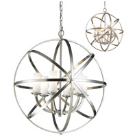 Aranya 6 Light 24 inch Brushed Nickel Pendant Ceiling Light