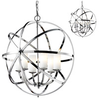 Aranya 6 Light 24 inch Chrome Pendant Ceiling Light