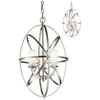 Aranya 3 Light 16 inch Brushed Nickel Pendant Ceiling Light