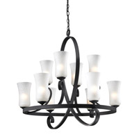 Arshe 10 Light 32 inch Café Bronze Chandelier Ceiling Light