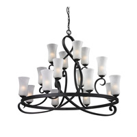 Arshe 16 Light 43 inch Café Bronze Chandelier Ceiling Light