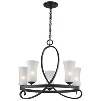 Z-Lite 603-5 Arshe 5 Light 27 inch Bronze Chandelier Ceiling Light