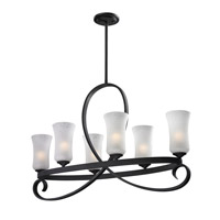 Z-Lite Arshe 6 Light Chandelier in Cafe Bronze 603-6