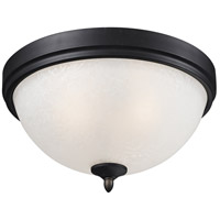 Z-Lite Arshe 2 Light Flush Mount in Cafe Bronze 603F2