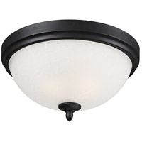 Arshe 3 Light 15 inch Cafe Bronze Flush Mount Ceiling Light