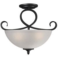 Arshe 3 Light 16 inch Café Bronze Semi-Flush Mount Ceiling Light