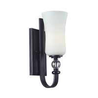 Z-Lite 604-1S Harmony 1 Light 5 inch Matte Black Wall Sconce Wall Light photo thumbnail