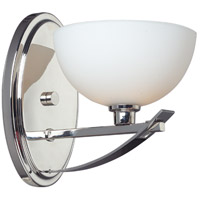Z-Lite Ellipse 1 Light Wall Sconce in Chrome with Matte Opal Glass 605-1S photo thumbnail