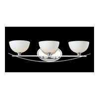 Z-Lite Ellipse 3 Light Vanity in Chrome with Matte Opal Glass 605-3V