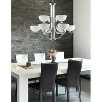 Z-Lite Ellipse 9 Light Chandelier in Chrome with Matte Opal Glass 605-9 alternative photo thumbnail