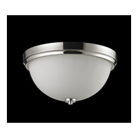 Z-Lite Ellipse 2 Light Flush Mount in Chrome with Matte Opal Glass 605F2