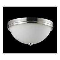 Z-Lite Ellipse 3 Light Flush Mount in Chrome with Matte Opal Glass 605F3