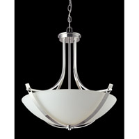 Z-Lite Ellipse 3 Light Pendant in Chrome with Matte Opal Glass 605P