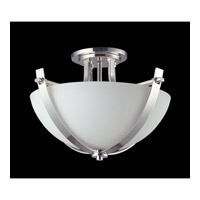 Z-Lite Ellipse 3 Light Semi-Flush Mount in Chrome with Matte Opal Glass 605SF