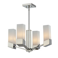Z-Lite Zen 4 Light Chandelier in Chrome 607-4