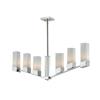Zen 6 Light 40 inch Chrome Island Light Ceiling Light