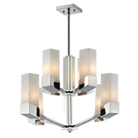 Zen 8 Light 26 inch Chrome Chandelier Ceiling Light