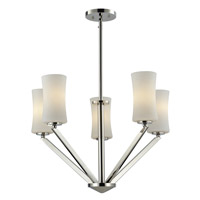 Elite 5 Light 24 inch Chrome Chandelier Ceiling Light