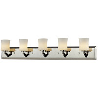 Elite 5 Light 35 inch Chrome Vanity Wall Light