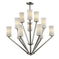 Elite 12 Light 36 inch Brushed Nickel Chandelier Ceiling Light