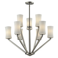 Z-Lite Elite 9 Light Chandelier in Brushed Nickel 609-3+6-BN