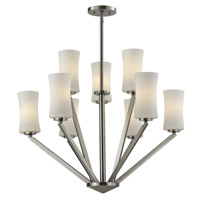 Z-Lite 609-3+6-BN Elite 9 Light 29 inch Brushed Nickel Chandelier Ceiling Light