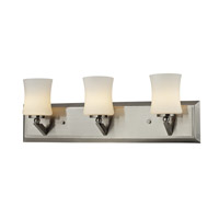 Elite 3 Light 21 inch Brushed Nickel Vanity Light Wall Light