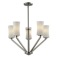 Elite 5 Light 24 inch Brushed Nickel Chandelier Ceiling Light
