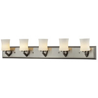 Elite 5 Light 35 inch Brushed Nickel Vanity Wall Light