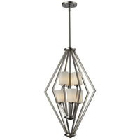 Elite 6 Light 17 inch Brushed Nickel Pendant Ceiling Light