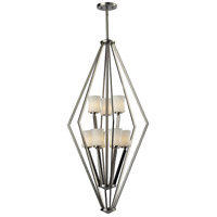 Z-Lite Elite 9 Light Pendant in Brushed Nickel 609-9-BN