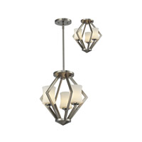 Z-Lite Elite 3 Light Semi Flush in Brushed Nickel 609SF-C-BN