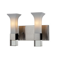 Z-Lite Lotus 2 Light Vanity in Brushed Nickel 610-2V-BN