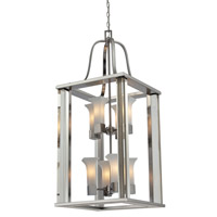 Z-Lite Lotus 8 Light Pendant in Brushed Nickel 610-42-BN