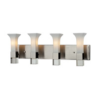 Z-Lite Lotus 4 Light Vanity in Brushed Nickel 610-4V-BN photo thumbnail