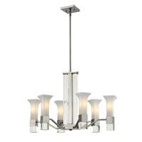 Z-Lite Lotus 6 Light Chandelier in Brushed Nickel 610-6-BN