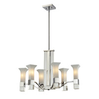 Lotus 6 Light 19 inch Chrome Chandelier Ceiling Light