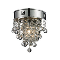 Z-Lite Iluva 1 Light Wall Sconce in Chrome 612-1S-CH