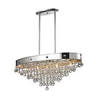 Z-Lite Iluva 5 Light Billiard/Island in Chrome 612-36CH