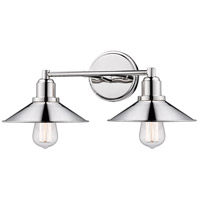 Z-Lite 613-2V-PN Casa 2 Light 18 inch Polished Nickel Vanity Wall Light photo thumbnail